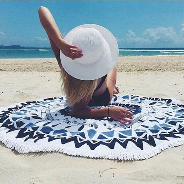 幾何圖騰沙灘巾 沙灘巾