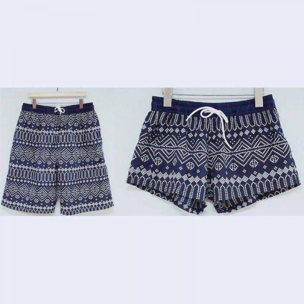 韓版典雅圖騰情侶沙灘褲 女款沙灘褲,男款沙灘褲