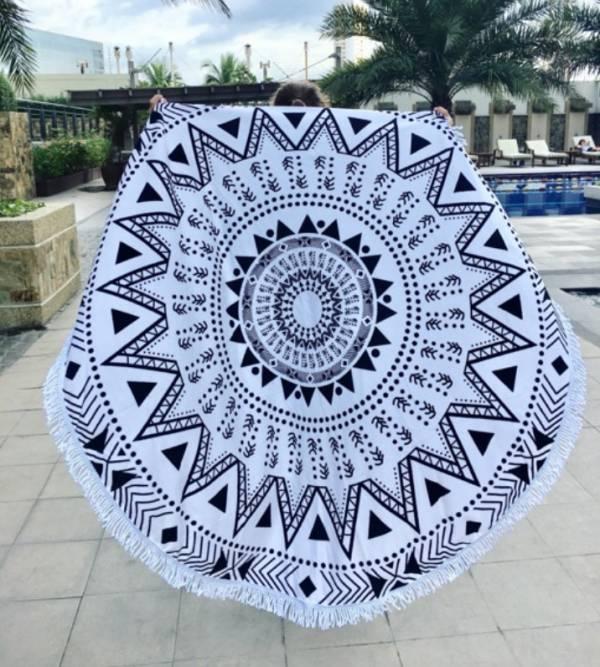 太陽三角圖騰沙灘巾 沙灘巾