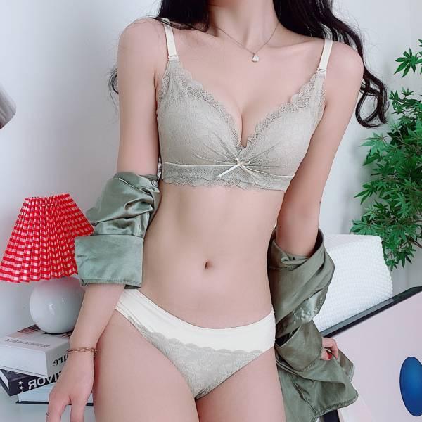 性感蕾絲花邊美胸內衣(綠色) 內衣,美胸內衣,集中內衣,性感內衣
