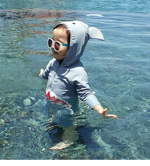 兒童鯊魚造型連身泳衣兒童鯊魚造型連身泳衣 兒童泳裝,兒童泳衣,造型泳衣