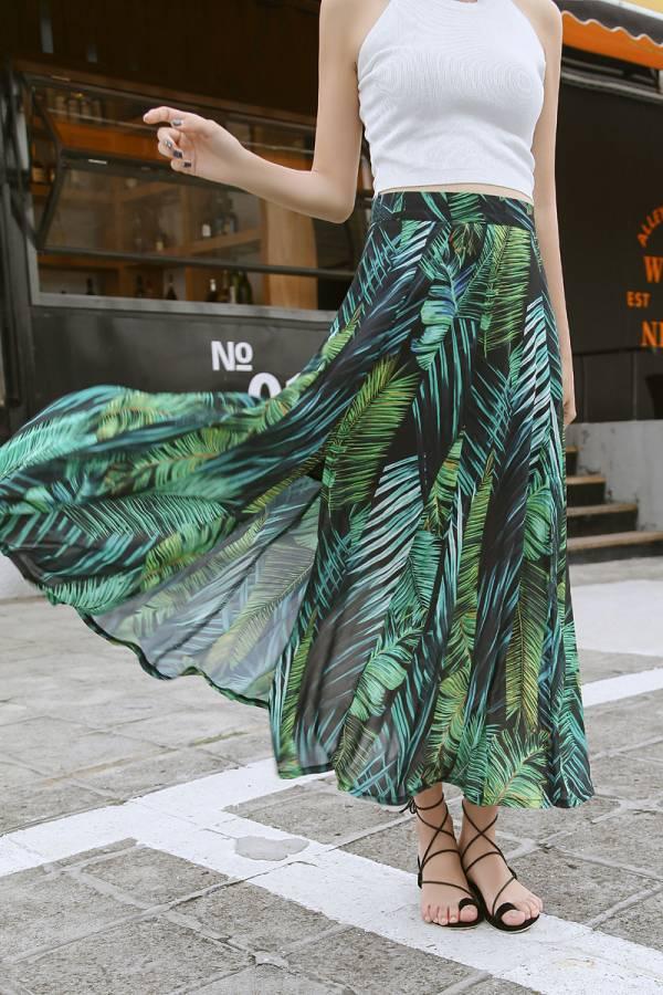 休閒長裙開衩裙 休閒寬褲,開衩裙,長裙
