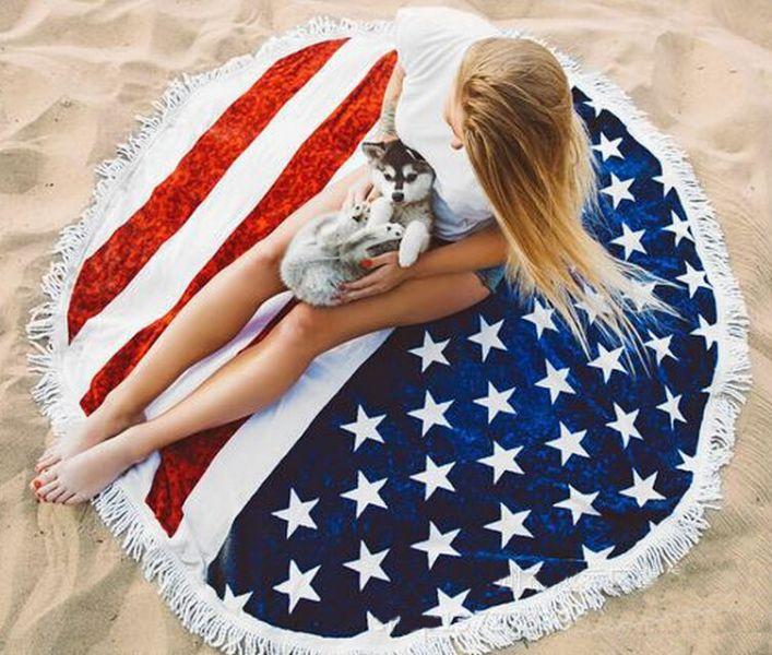 美國旗沙灘巾 沙灘巾