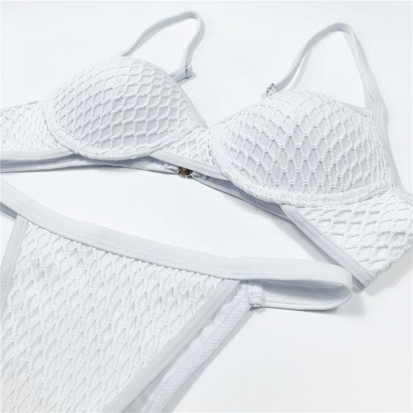 白色網面鋼圈比基尼 比基尼,泳裝,泳衣