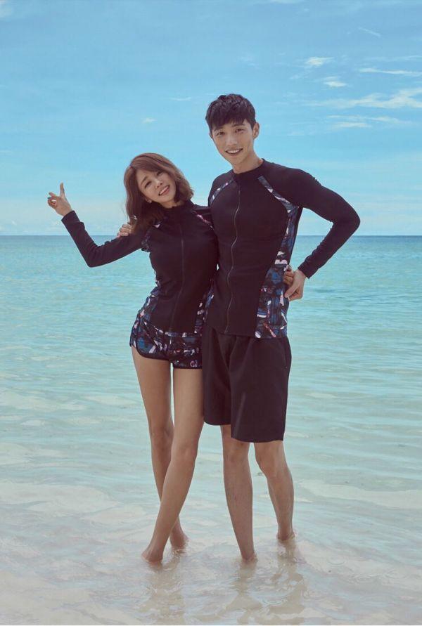 韓版情侶防曬水母衣泳衣 情侶款泳衣,男款泳褲,泳裝