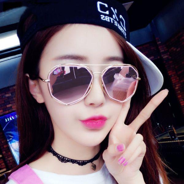 韓版時尚鍍多邊形太陽眼鏡 7色 太陽眼鏡