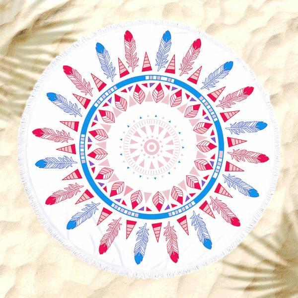 羽毛沙灘巾 沙灘巾