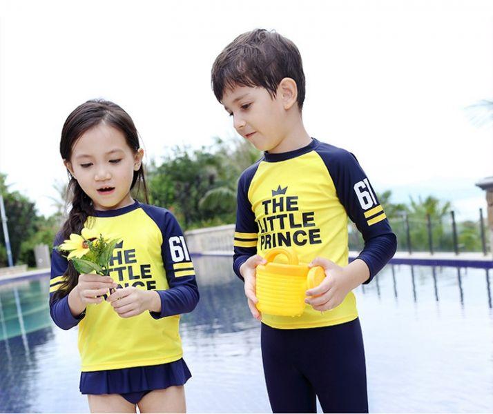 韓版兒童長袖防曬泳衣 兒童泳裝,男童,女童,兒童泳衣,長袖