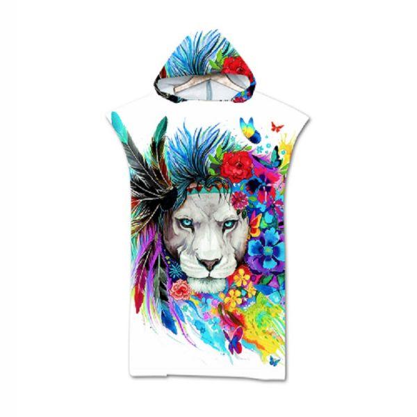 造型連帽毛巾衣Colourful Lion 毛巾衣,浴巾