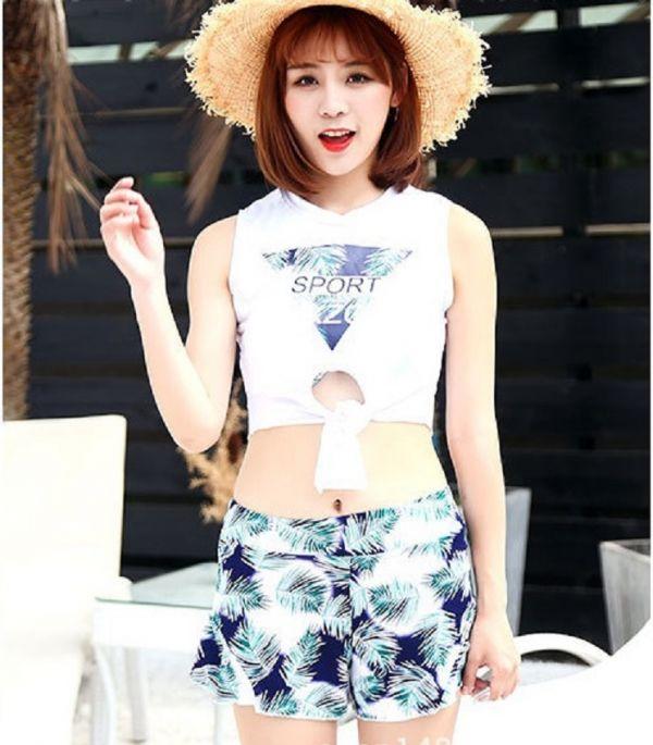 韓版三件式細葉比基尼泳裝 比基尼,泳裝,泳衣
