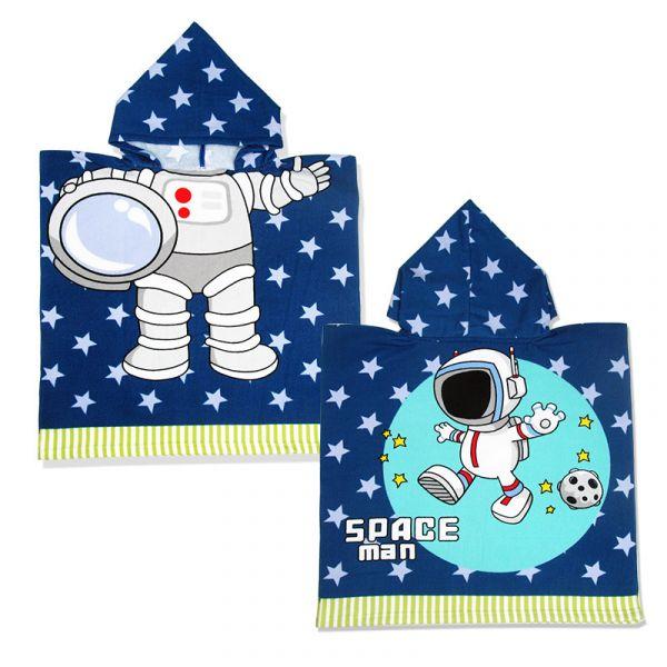 兒童造型連帽毛巾衣太空人 毛巾衣,浴巾,連帽浴巾