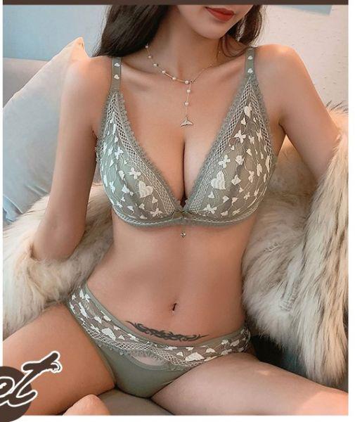 蜜桃杯集中收副乳美胸內衣(綠) 內衣,美胸內衣,集中內衣,性感內衣
