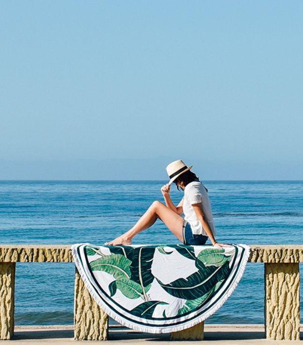 綠樹葉沙灘巾 沙灘巾