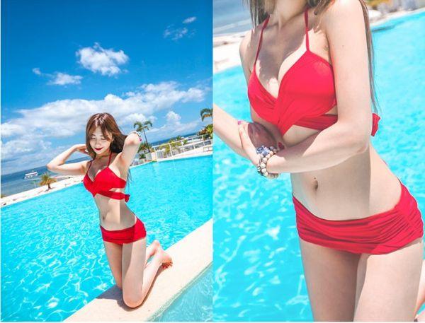 韓版集中交叉多穿法比基尼三色 比基尼,泳裝,泳衣