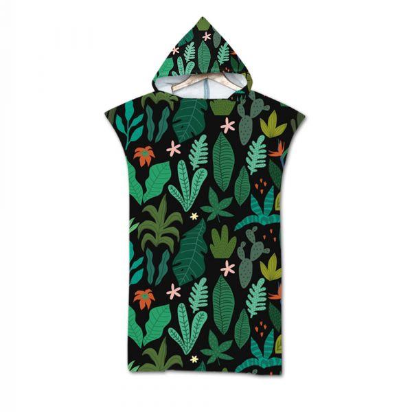 造型連帽毛巾衣熱帶雨林 毛巾衣,浴巾