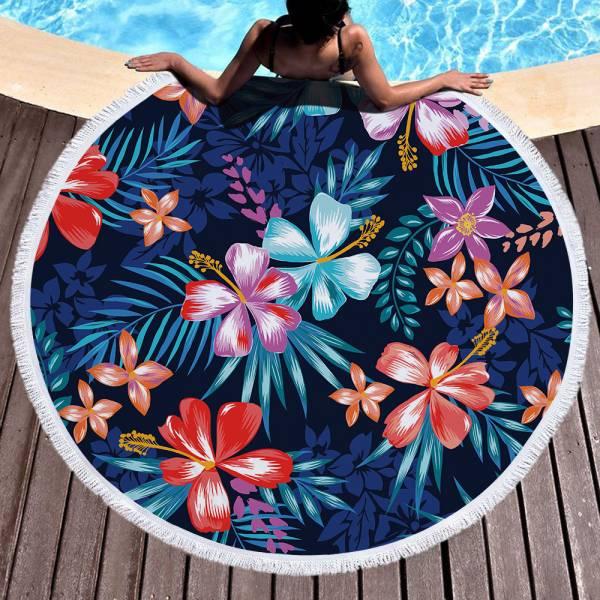扶桑花沙灘巾 沙灘巾