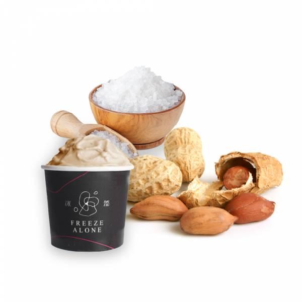 海鹽花生 Gelato 冰淇淋,義式冰淇淋,冰品,冰獨,冰獨冰淇淋,團購美食,宅配美食,海鹽花生