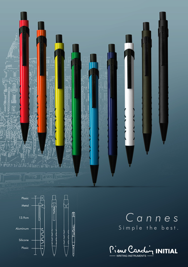 【皮爾卡登】cannes 原子筆、鋼珠筆