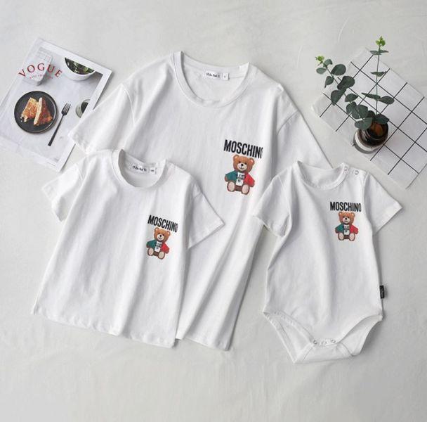 BV1525 春夏新款 全家出遊 時尚小熊圖案短袖上衣親子裝 春,夏,新款,全家,出遊,時尚,小熊,圖案,短袖,上衣,親子裝,親子,全家福,