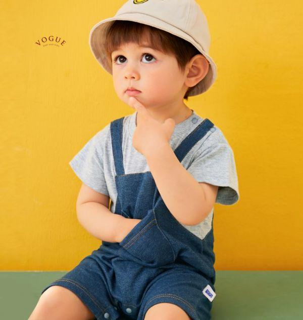 BV01550 春夏新款 超萌短袖吊帶褲造型連身衣 (2色) 短袖,吊帶褲,連身衣,爬行衣,