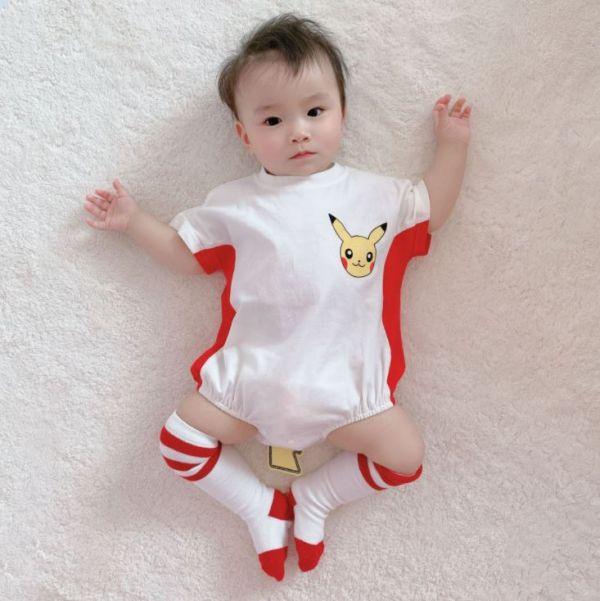 BV01582 春夏新款 寶寶皮卡丘造型短袖包屁衣 春,夏,新款,寶寶,皮卡丘,造型,短袖,包屁衣,寶可夢,