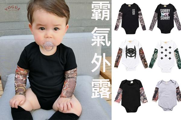 BV896 春夏新款 酷寶寶紋身假兩件包屁連身衣 (7款) 春,夏,新款,酷寶寶,紋身,假兩件,包屁衣,連身衣,tattoo,