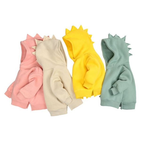 BV01638 韓版酷帥恐龍寶寶造型長袖帽T (7色) 韓版,酷,帥,恐龍,寶寶,造型,長袖,帽T,