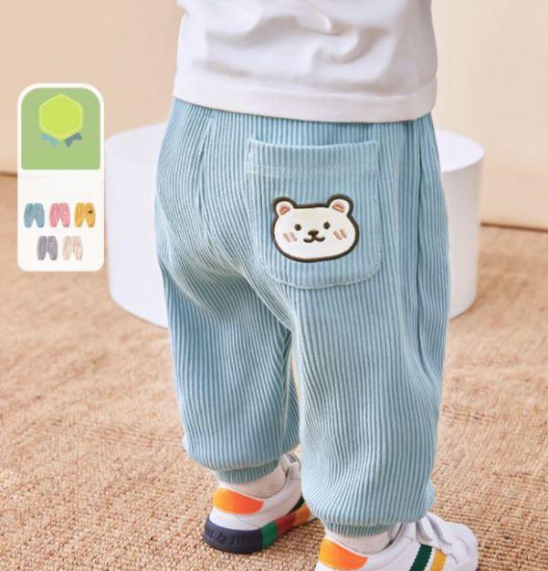 BV01623 秋冬新款 舒適彈力圖案寶寶口袋長褲 (5款) 秋,冬,新款,舒適,彈力,圖案,寶寶,口袋,長褲,