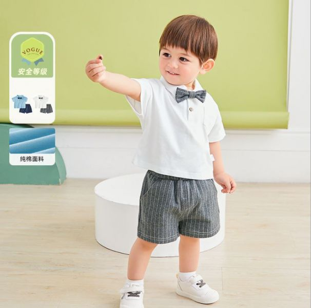BV01538 春夏新款 帥氣紳士寶寶上衣+短褲 套裝 (2色) 紳士,寶寶,上衣,短褲,套裝