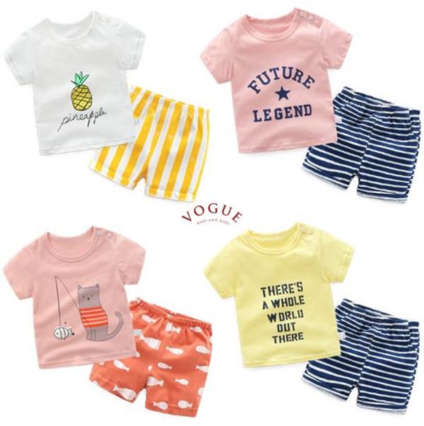 BV01285 春夏新款 萌寶寶短袖上衣+短褲 套裝 (4款) 春夏新款 萌寶寶短袖上衣+短褲 套裝 (4款)