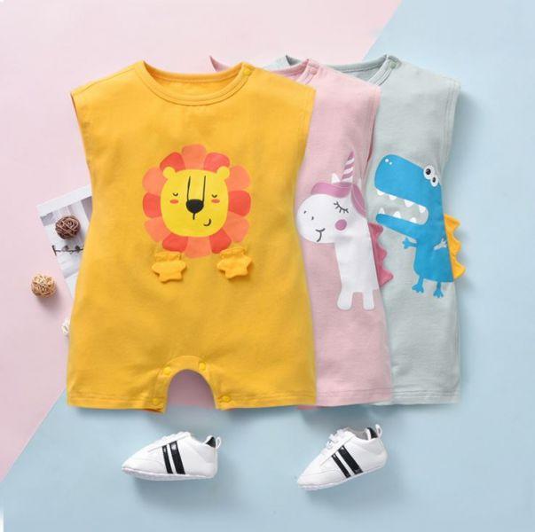 BV01605 春夏新款 卡哇依動物寶寶無袖連身衣 (3款) 春,夏,新款,卡哇依,動物,寶寶,無袖,連身衣,