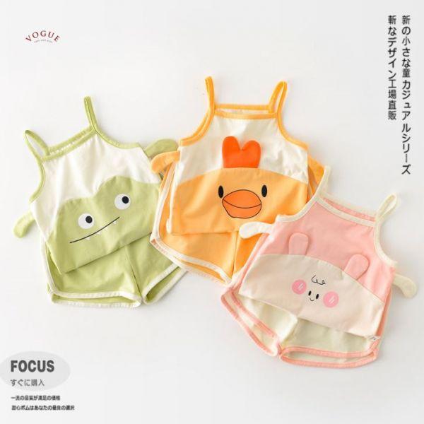 BV01565 春夏新款 卡哇依動物寶寶背心套裝 (3款) 卡哇依,動物,寶寶,背心,套裝,