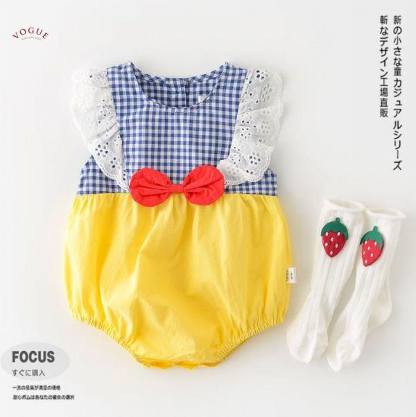BV01563 春夏新款 白雪公主寶寶短袖包屁衣 白雪公主,寶寶,短袖,包屁衣,