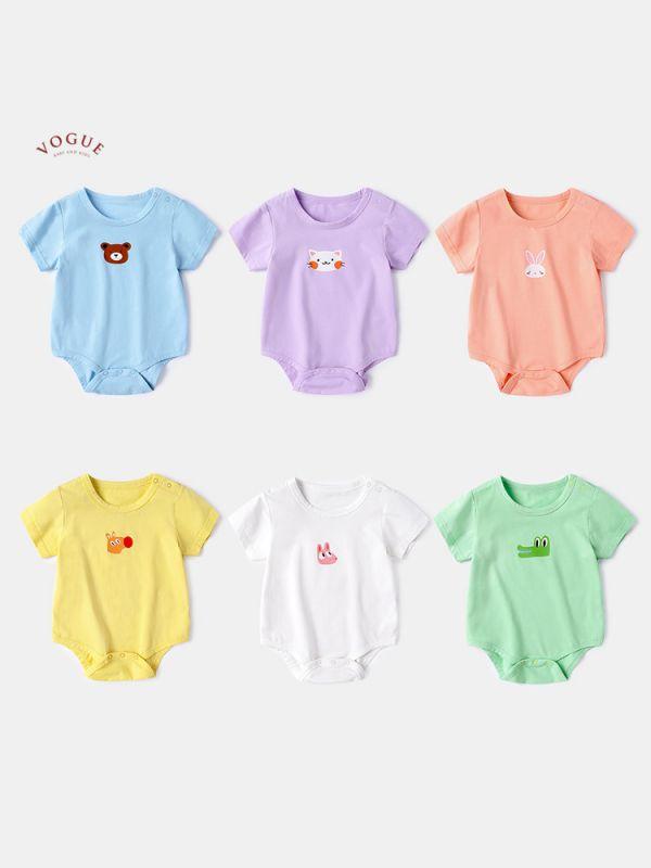 BV01571 春夏新款 超萌動物寶寶純棉舒適短袖包屁衣 (6款) 春,夏,新款,超萌,動物,寶寶,純棉,舒適,短袖,包屁衣,