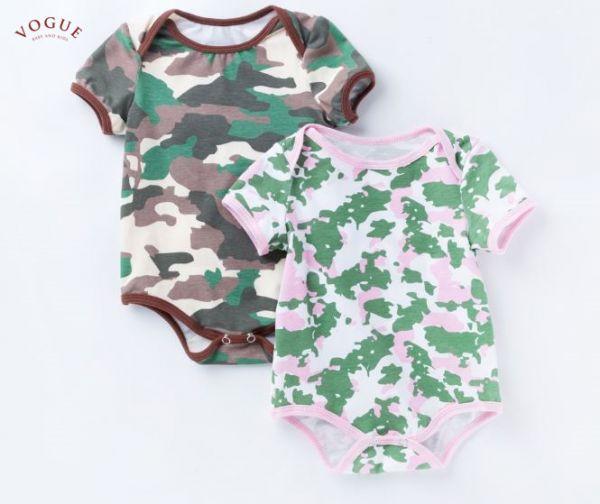 BV01099 春夏新款 純棉寶寶迷彩短袖包屁衣 (2色) 春,夏,新款,純棉,寶寶,迷彩,短袖,包屁衣,