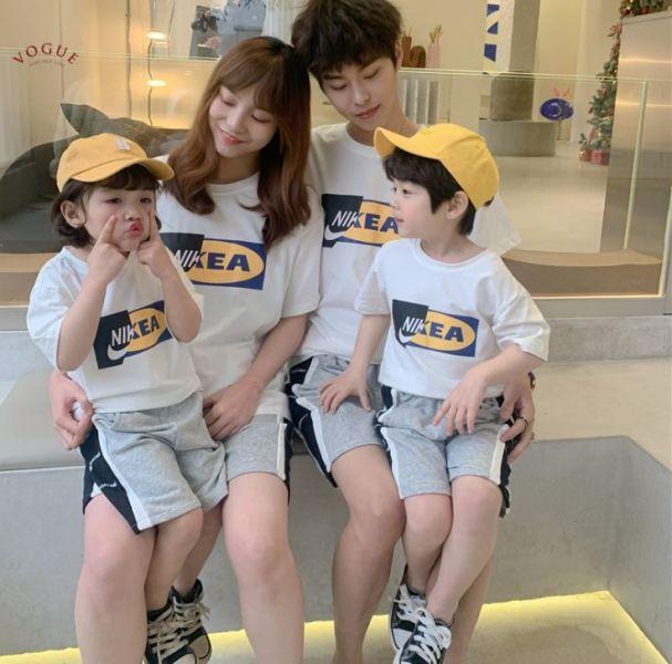 BV1515 現貨 翻玩品牌潮流短袖親子裝 翻玩,品牌,潮流,短袖,親子裝,親子,全家福,