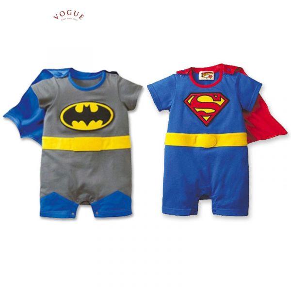 BV0933 春夏新款 寶寶大明星 超萌超人/蝙蝠俠短袖造型連身衣 (2款) 春,夏,新款,寶寶大明星,超萌,超人,蝙蝠俠,短袖,造型,連身衣,