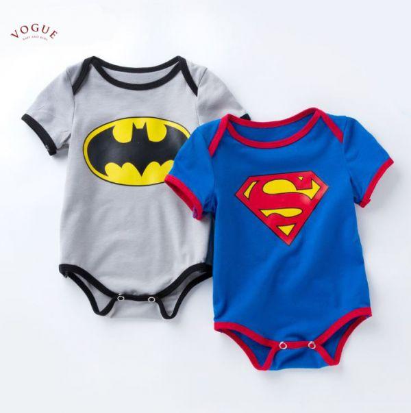 BV0931 春夏新款 寶寶超級英雄 超人/蝙蝠俠包屁衣 (2款) 春,夏,新款,寶寶,超級英雄,超人,蝙蝠俠,包屁衣,
