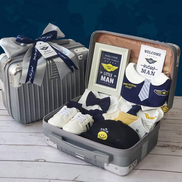 BV01593 寶寶禮盒 飛行員寶寶彌月週歲禮盒 寶寶,禮盒,飛行員,寶寶,彌月,週歲,機長,登機箱,