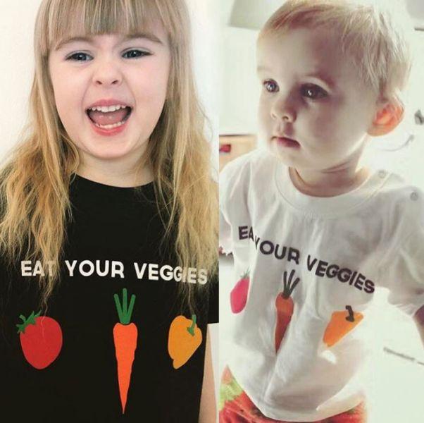 BV01603 春夏新款 營養要均衡 蔬果寶寶短袖上衣 (2色) 春,夏,新款,營養,蔬果,寶寶,短袖,上衣,
