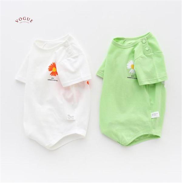 BV01518 春夏新款 純棉小雛菊寶寶短袖包屁衣 (2色) 純棉,小雛菊,寶寶,短袖,包屁衣