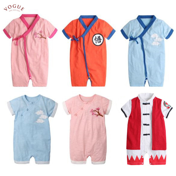 BV01070 春夏新款 超萌卡通造型短袖連身衣 小當家 悟空 (6款) 春,夏,新款,萌,卡通,造型,短袖,連身衣,小當家,悟空,