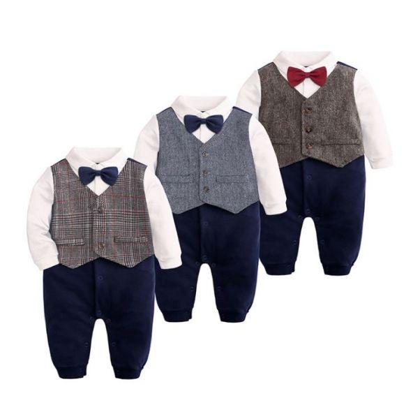 BV01631 秋冬新款 紳士寶寶造型長袖連身衣 (3款) 秋,冬,新款,紳士,寶寶,造型,長袖,連身衣,
