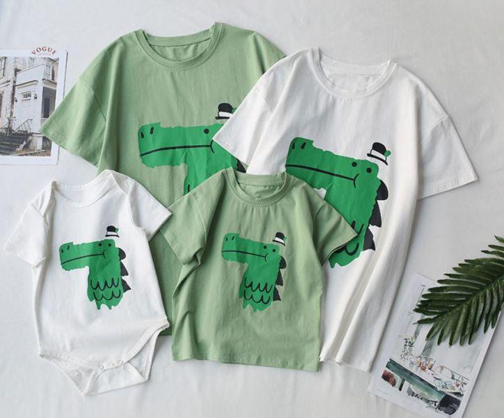 BV1528 春夏新款 全家出遊 鱷魚家族短袖上衣親子裝 (2色) 春,夏,新款,全家,出遊,鱷魚,家族,短袖,上衣,親子裝,親子,全家福,