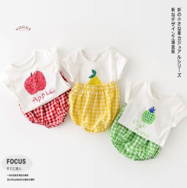 BV01559 春夏新款 卡哇依水果寶寶短袖套裝 (3款) 卡哇依,水果,寶寶,短袖,套裝,