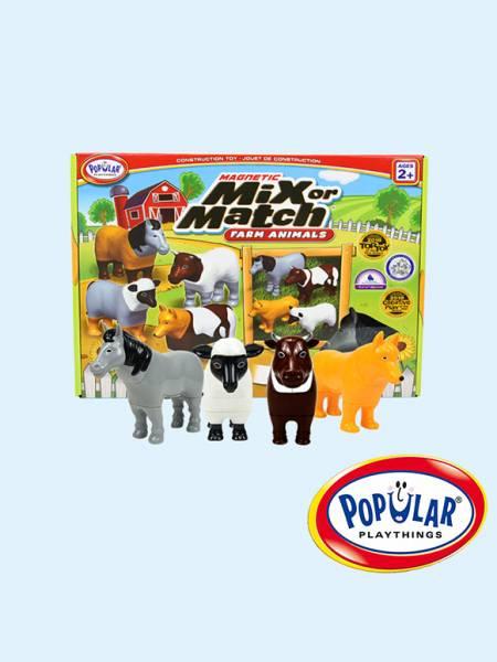 磁性動物總動員-農場組 美國PopularPlaythings,PopularPlaythings,PopularPlaythings台灣代理,PopularPlaythings獨家代理,美國玩具,ABS玩具,邏輯玩具,磁性玩具專家,美國設計玩具,數學奧林匹克比賽專用,兒童玩具,安全玩具,益智玩具,空間認知玩具,親子互動玩具,安全無毒,想像力,早教,早教玩具,動物玩具,認知能力