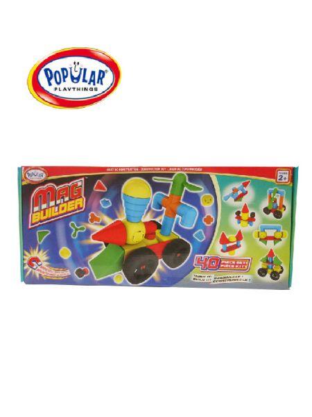 幼兒磁性建構積木(40pcs) 美國PopularPlaythings,PopularPlaythings,PopularPlaythings台灣代理,PopularPlaythings獨家代理,PP,美國玩具,ABS玩具,邏輯玩具,磁性玩具專家,美國設計玩具,數學奧林匹克比賽專用,兒童玩具,安全玩具,益智玩具,空間認知玩具,親子互動玩具,安全無毒,想像力,早教,早教玩具