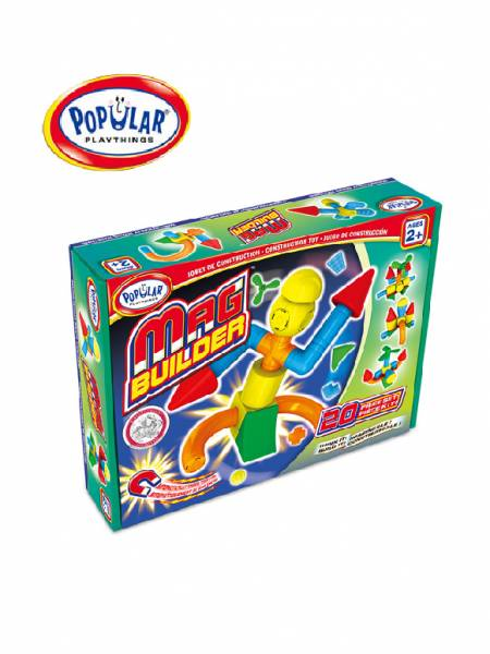 幼兒磁性建構積木-20pcs 美國PopularPlaythings,PopularPlaythings,PopularPlaythings台灣代理,PopularPlaythings獨家代理,PP,美國玩具,ABS玩具,邏輯玩具,磁性玩具專家,美國設計玩具,數學奧林匹克比賽專用,兒童玩具,安全玩具,益智玩具,空間認知玩具,親子互動玩具,安全無毒,想像力
