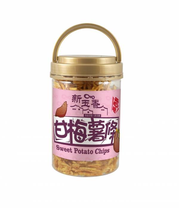 台版薯條三兄弟(銷售NO.1)甘梅地瓜酥條 150g (罐)