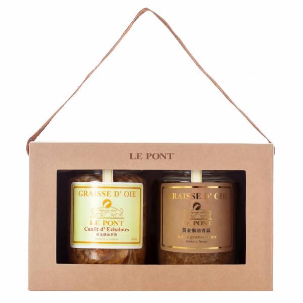 經典二入禮盒_蔥蒜限定版 樂朋,黃金鵝油香蔥,鵝油,橋邊